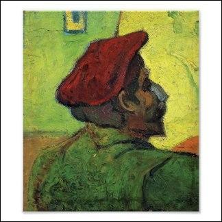 Qui a représenté Paul Gauguin sur cette toile intitulée  L'homme au béret rouge  ?