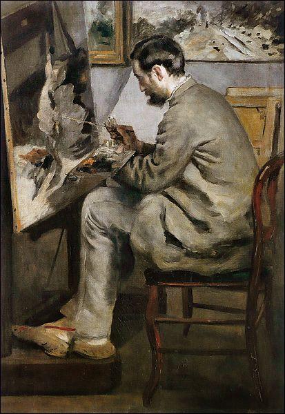 Qui a peint Frédéric Bazille peignant ?