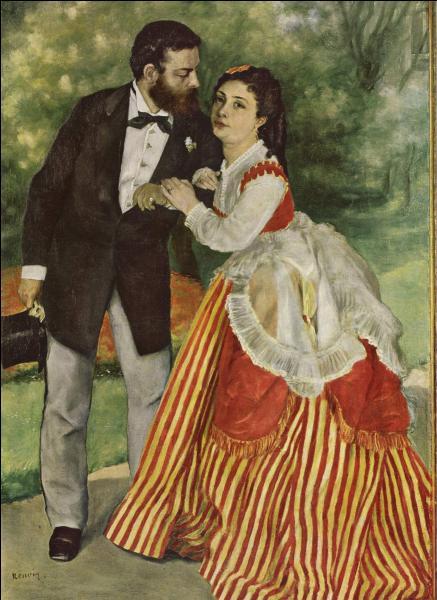 Quel peintre figure sur cette toile de Renoir, avec son épouse ?