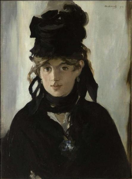 Qui est l'auteur de cette toile sur laquelle pose Berthe Morisot ?