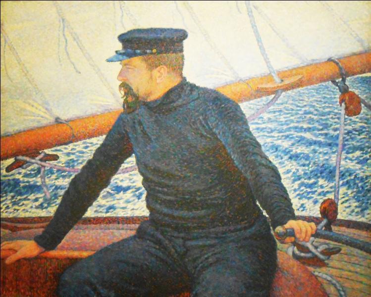 Qui a peint Paul Signac à la barre ?