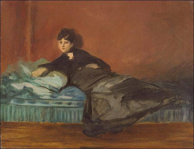 Qui a peint Berthe Morisot sur un divan ?