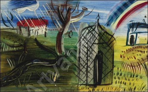 L'arc-en-ciel au-dessus de St Denis.