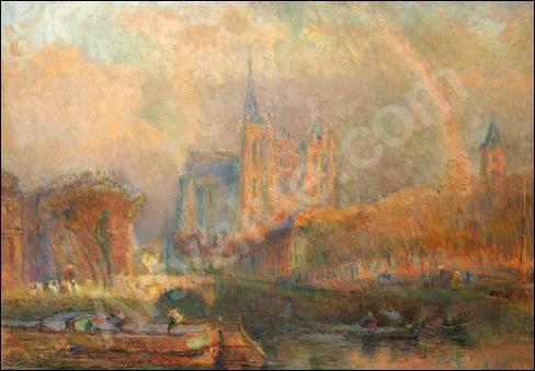 Arc-en-ciel après l'orage à Amiens.