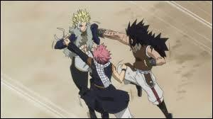 Lors du combat à 2 contre 2, qui Natsu et Gajil combattent-ils ?