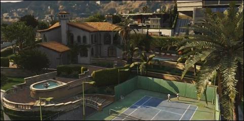 Quel personnage vit avec sa famille dans une grande maison à Los Santos ?