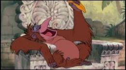 Dans quel film le roi Louie règne-t-il sur le peuple des singes ?