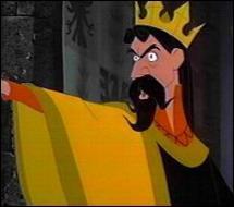 Dans quel film le roi Stéphane est-il inquiet pour l'avenir de sa fille, suite à un mauvais sort jeté par une sorcière à sa naissance ?