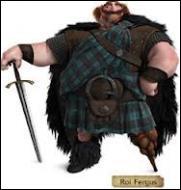 Dans quel film voit-on le roi Fergus qui a perdu une jambe lors d'un combat avec un ours ?