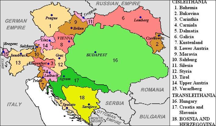 En 1867, l'Empire d'Autriche devient