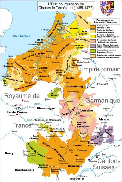 En 1477, Maximilien de Habsbourg épouse Marie de Bourgogne. De ce fait, les Habsbourg acquièrent