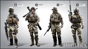 Combien y a-t-il de classes différentes dans Battlefield 4 ?