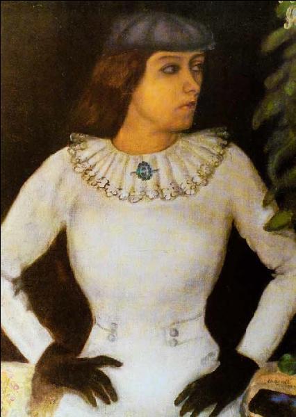 En 1909, il peint  Ma fiancée aux gants noirs  quel est son nom ?