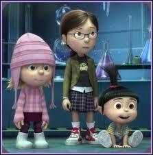 Comment s'appellent les trois petites filles que Gru adoptent ?