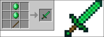 Peut-on crafter une épée en émeraude ?