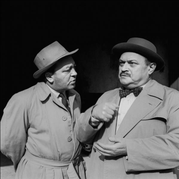 1er janvier 1958 : début à la télévision française de la première grande série policière dans laquelle l'inspecteur Bourrel et son adjoint Dupuy mènent de sérieuses enquêtes. C'était :
