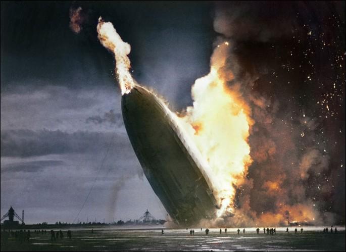 En quelle année s'est écrasé le dirigeable Hindenburg ?