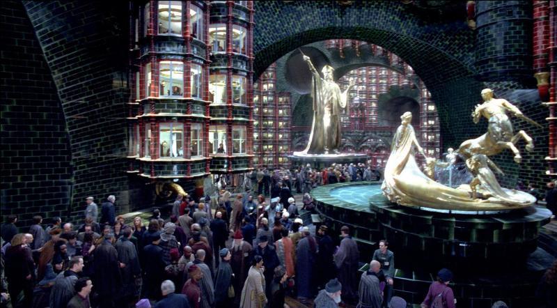 Quelle est la dénomination du deuxième étage du ministère de la Magie, où est consigné le registre de l'ensemble des sorciers déclarés ayant ce don magique ?