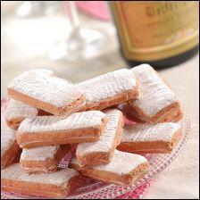 Créé en 1691, les -------- de Reims sont fleurons de la ville de Reims. Toujours associé au champagne autrefois, il est un symbole de la fête. Aujourd'hui, il est aussi utilisé dans de nombreuses recettes. Outre sa couleur rose, il est caractérisé par une texture craquante et fondante.