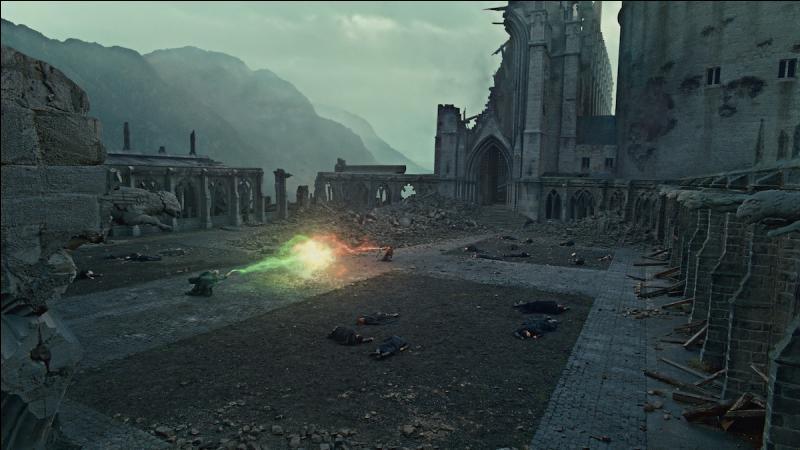 Au même moment, Harry Potter sort de son immobilité et tente de s'échapper. Lord Voldemort, déboussolé, entre dans une furie indescriptible et incontrôlable. Le combat final a lieu. Que se passe-t-il ?
