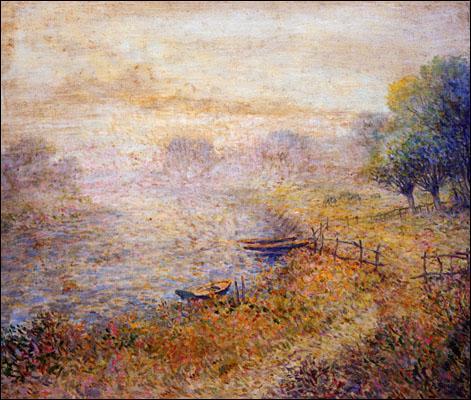 Qui a peint Au bord de la rivière ?
