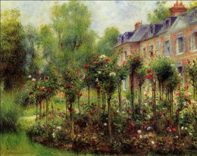 Qui a peint Les roses dans le jardin de Wargemont ?