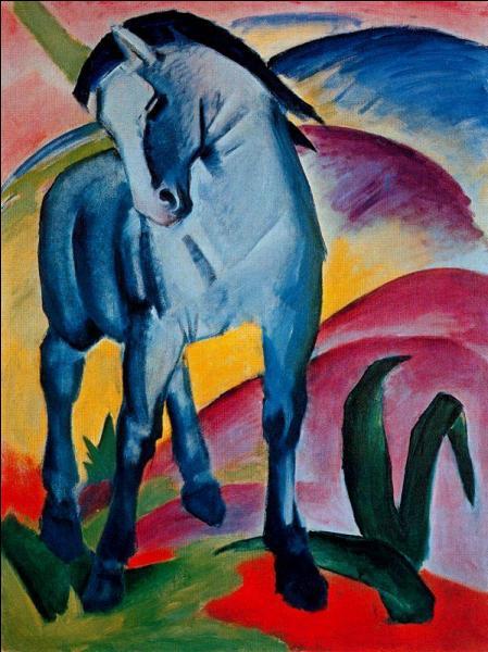 Qui a peint Le cheval bleu ?