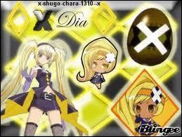 Quel Shugo Chara d'Amu est marqué d'un X ?
