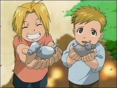 Edward et Alphonse Elric sont deux personnages tirés du manga  Fullmetal Alchemist .