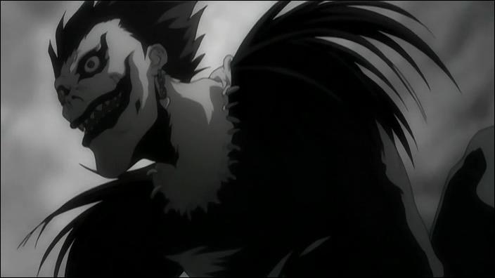 Dans le manga  Death Note , Ryuk désigne le dieu de la mort qui accompagne Light Yagami.