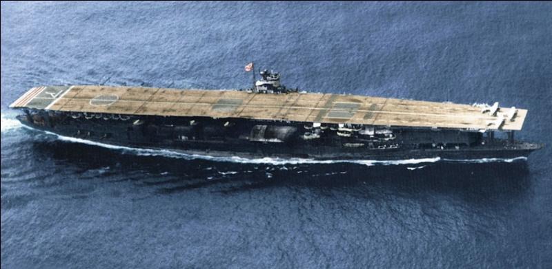 Japon : Ce porte-avions fut l'une des victimes de la bataille de Midway en 1942. C'était le vaisseau amiral de Nagumo commandant la flotte japonaise. Quel est ce porte-avions ?
