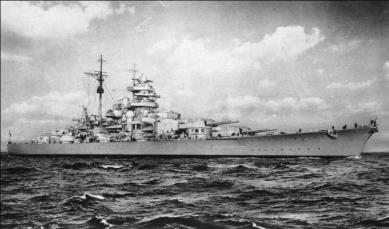 Allemagne : Ce navire n'a fait qu'une sortie, il a réussi à couler un navire anglais de première importance mais fut détruit le 27 mai 1941 par les attaques successives de l'aéronavale anglaise et de la Royal Navy ! Qui est-il ?