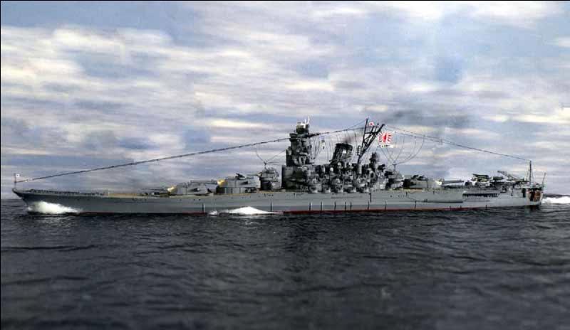 Japon : C'est le premier cuirassé de sa classe et le plus imposant jamais construit. Il n'a pas marqué la 2e Guerre mondiale par son efficacité mais il a réussi à couler un porte-avions US, l'USS Gambier. Sa fin fut tragique.