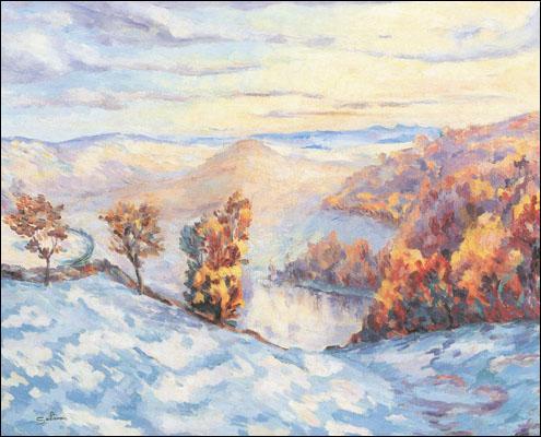 Qui a peint La montagne en hiver ?
