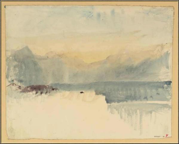 Qui a peint Lac et montagnes ?