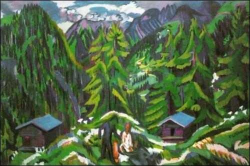 Qui a peint Paysage de montagne à Clavadel ?