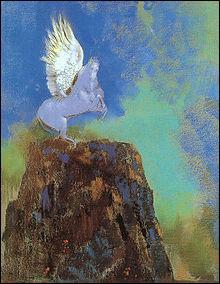 Qui a peint Pegase sur cette montagne ?
