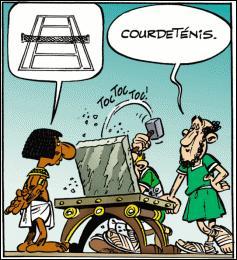 """Dans """"Astérix"""", quelle est la terminaison des noms égyptiens, goths, vikings et bretons ?"""
