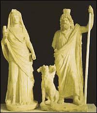 La déesse romaine Prosperine est l'épouse du dieu romain Pluton.