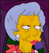 C'est une pensionnaire de la maison de retraite de Springfield. Elle a eu des relations avec le grand-père de Bart Simpson.