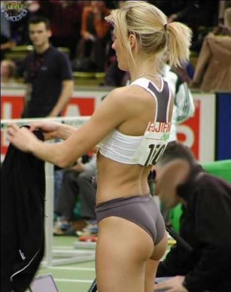Quel sport peut bien pratiquer cette athlète ?