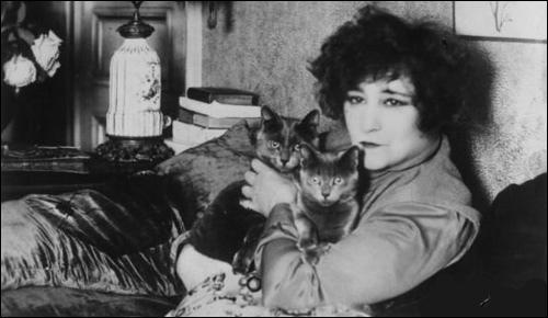 Quelle romancière ayant eu de nombreux chats dans sa  maison  a écrit :  Le temps passé en compagnie d'un chat n'est jamais perdu  ?