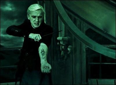 Lorsque Harry, Ron et Hermione sont amenés au manoir des Malefoy, que prétend Drago ? [HP7]