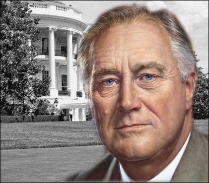Laquelle de ces affirmations sur Franklin Delano Roosevelt, président américain acteur majeur de la Seconde Guerre Mondiale, est erronée ?