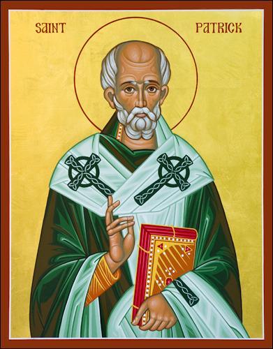Au Vème siècle après Jésus-Christ, l'Irlande connaît une grande campagne d'évangélisation. Quelle saint, fêté tous les 17 mars en Irlande, est considéré comme le fondateur du christianisme irlandais ?