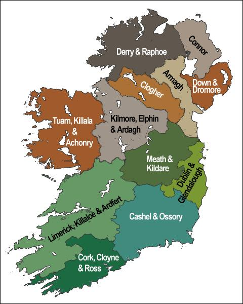 C'est au cours de cette période, sous l'impulsion progressive des Vikings, que différentes provinces seront créées. Ainsi, aujourd'hui, combien de provinces compte l'île d'Irlande (Nord et Sud compris) ?