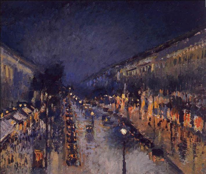 Superbe tableau de Camille Pissarro c'est :  ... ... effet de nuit