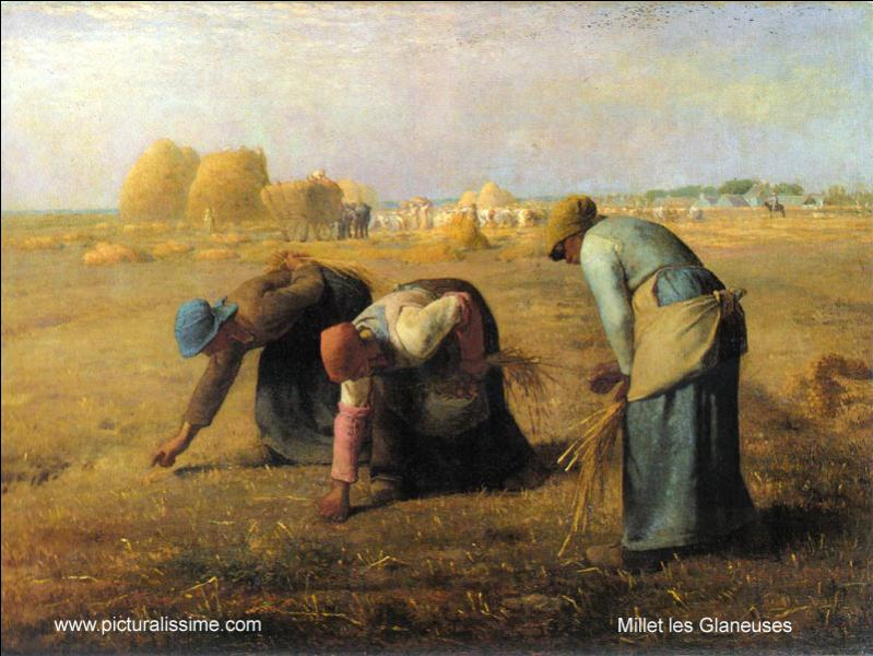 Oeuvre de Jean-François Millet, il s'agit de la toile intitulée  Les ...