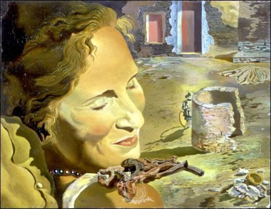 Cette toile de Dali est  Portrait de ...