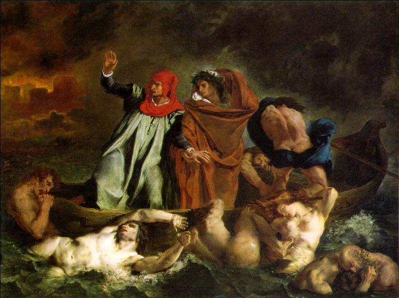 Toile de Delacroix, c'est  ... ... de Dante